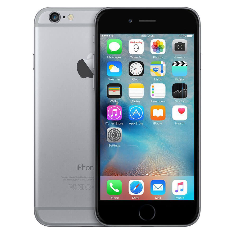 Unlocked iPhone 6 Plus 16GB Grade A - Space Gray - Recertified