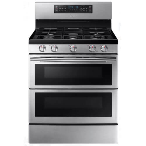 5.8 Cu. Ft. Stainless Gas Freestanding Flex Duo Range