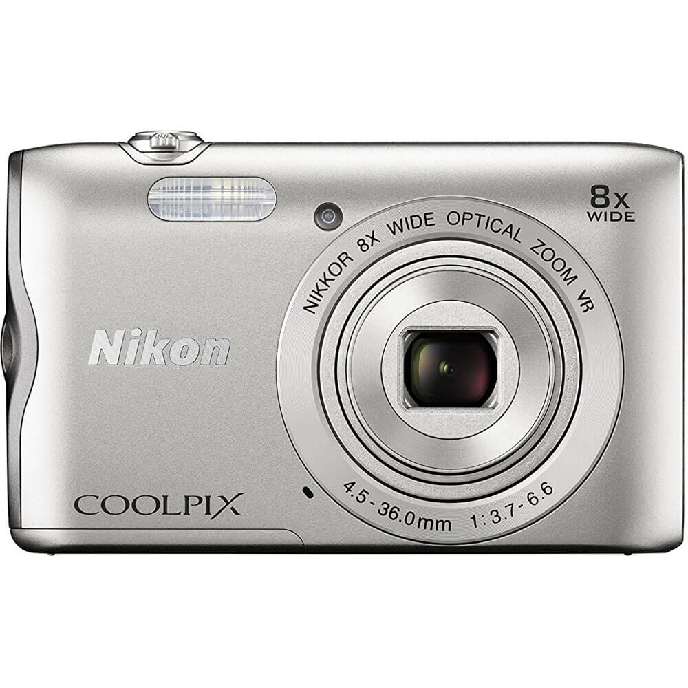 COOLPIX 8x Optical Zoom, 20.1MP Digital Camera - Silver