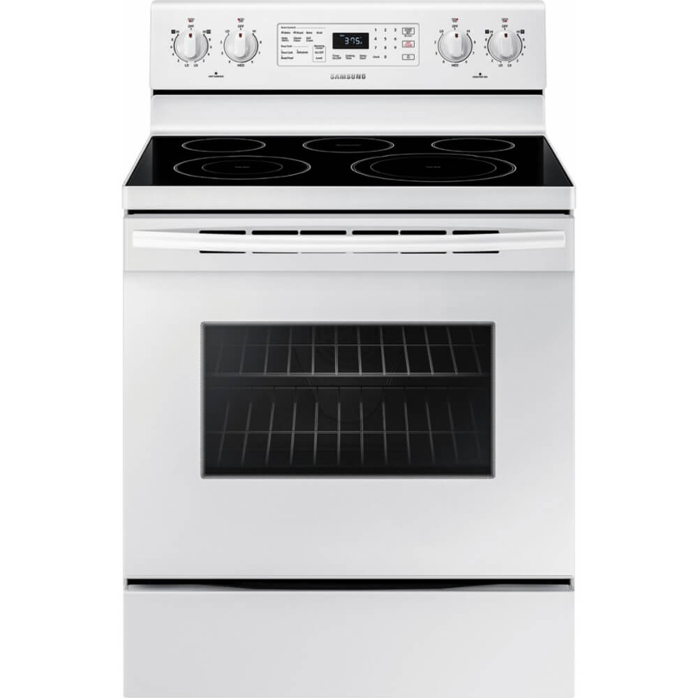 5.9 Cu. Ft. White Electric Convection Range