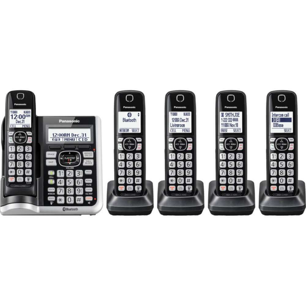 Link2Cell Bluetooth Cordless Phone - 5 Handsets