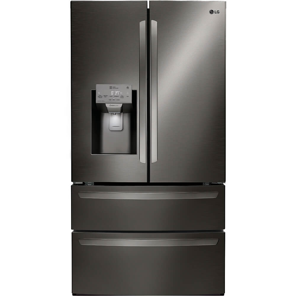 28 Cu. Ft. Black Stainless 4-Door French Door Refrigerator