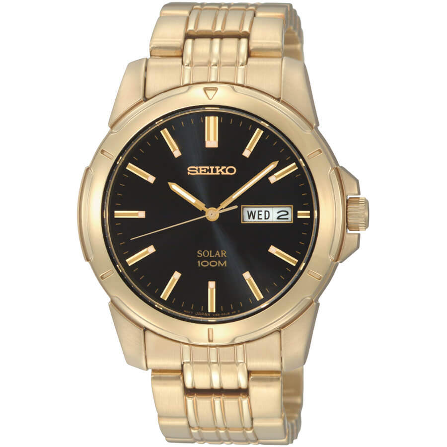 Mens Gold Core Solar Watch