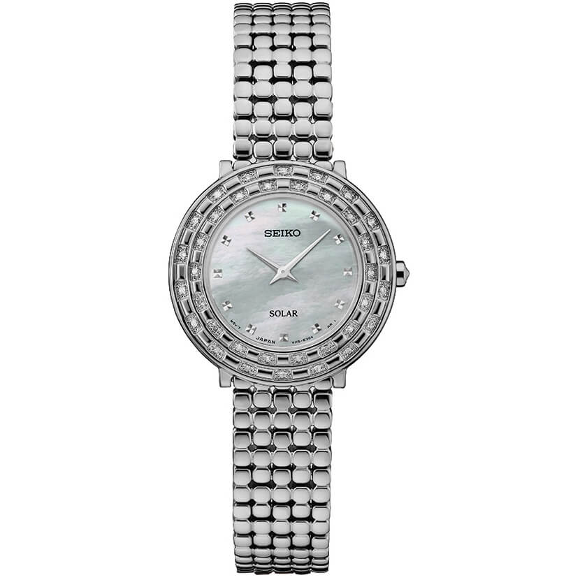 Womens Silver Tressia Solar Watch