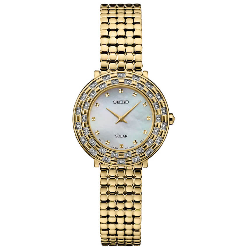 Womens Gold Tressia Solar Watch