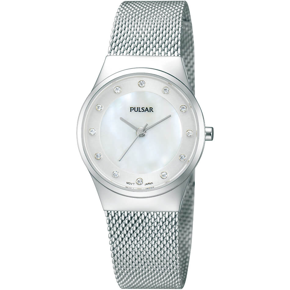 Womens Silver Crystal Collection Watch