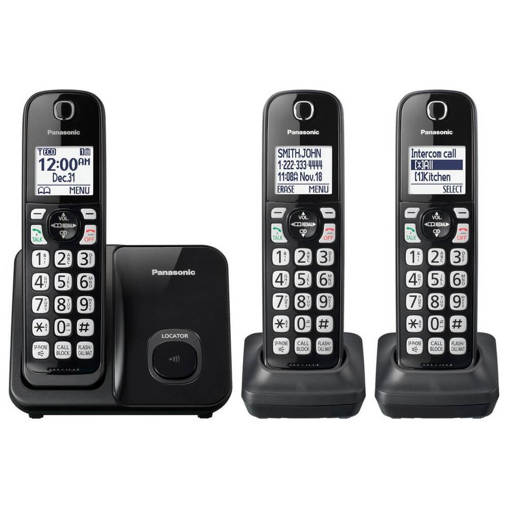 Expandable Cordless Phone - 3 Handsets