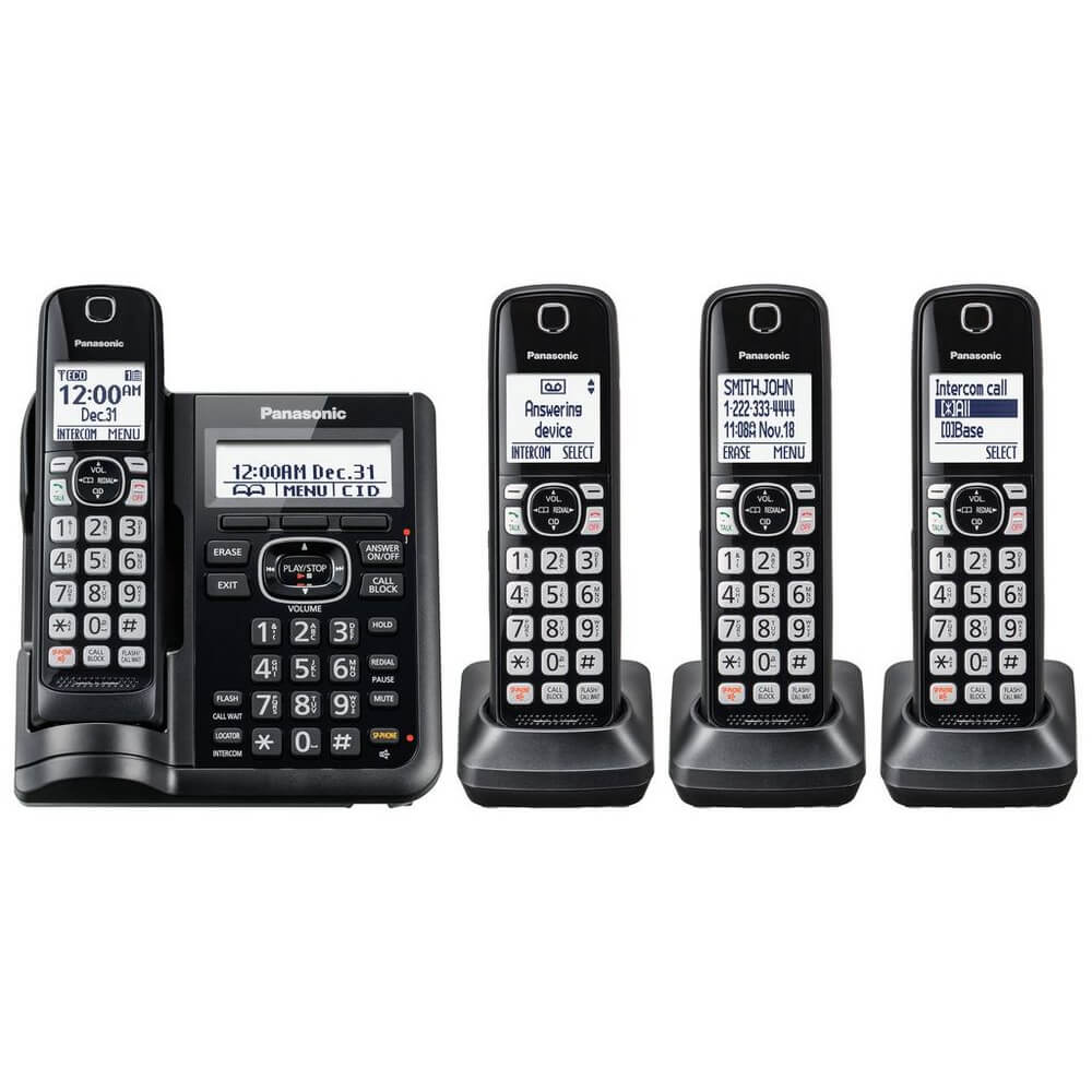 Expandable Cordless Phone - 4 Handsets