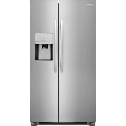 Front view of Frigidaire FGSS2635TF 26 cu.ft. Side by Side Refrigerator