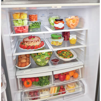 Full LG LFDS22520S 22 cu.ft. French Door Refrigerator