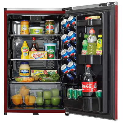Interior for 4.4 Cu.Ft. Red Compact Refrigerator