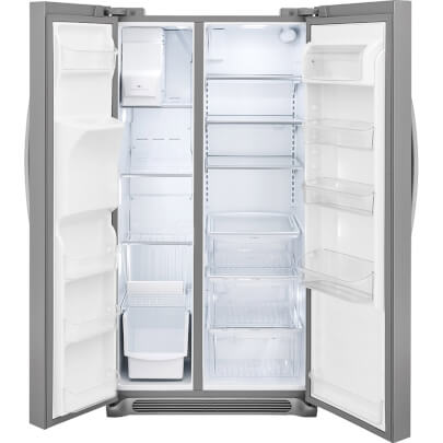 Interior of Frigidaire FGSS2635TF 26 cu.ft. Side by Side Refrigerator