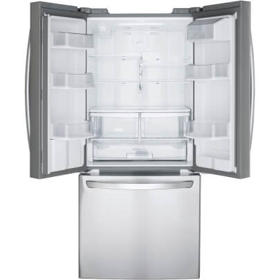 Interior view of LG LFDS22520S 22 cu.ft. French Door Refrigerator