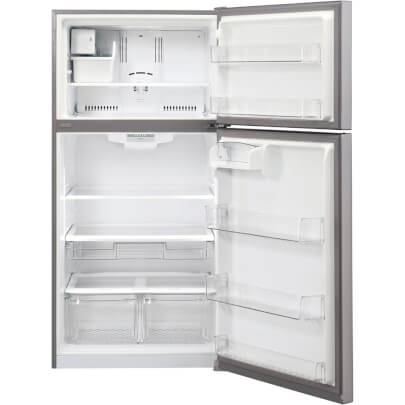 Interior of 24 cu.ft. Stainless 33� Wide Top Mount Fridge w/Ice