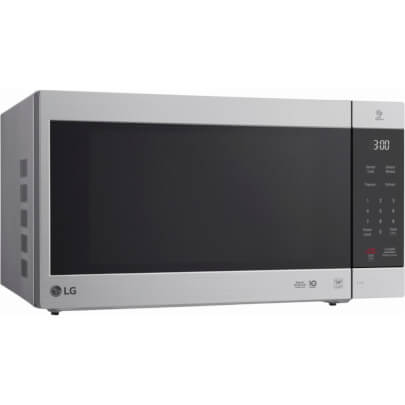 Angled front view of the 2.0 cubic foot stainless steel LG counter top microwave- LMC2075ST