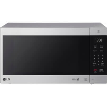 Front view of the 2.0 cubic foot stainless steel LG counter top microwave- LMC2075ST