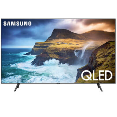 front view of the samsung 4k qled smart tv model number qn65q70r