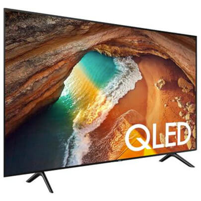 angled view of the samsung 55 qled smart tv model number qn55q60r