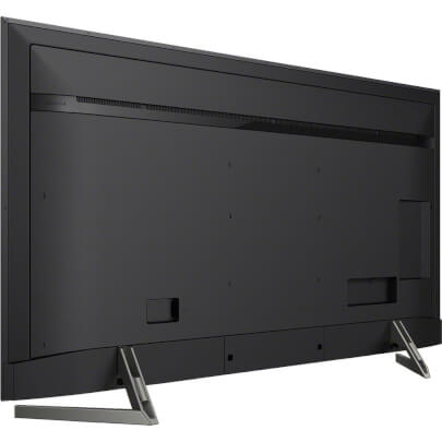 angled back panel view of the sony 85 4k led smart tv model number xbr85x900f