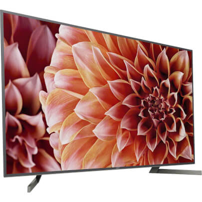angled view 1 of the sony 85 4k led smart tv model number xbr85x900f