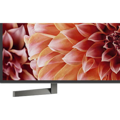 left tv stand leg view of the sony 85 4k led smart tv model number xbr85x900f