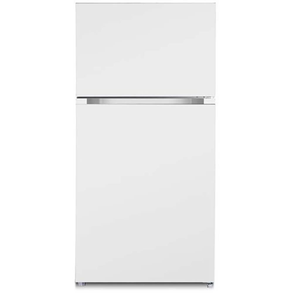 Front view of the 18.2 cubic foot white Ascoli top freezer refrigerator- ATFR1801EWE
