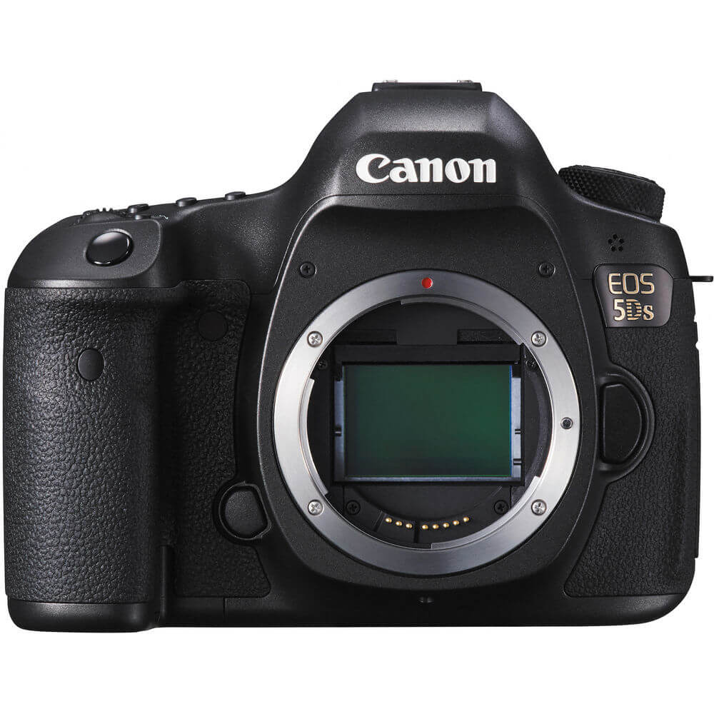 Front view of the full frame Canon EOS 5DS 50.6 Mega-pixel DSLR body- EOS5DS