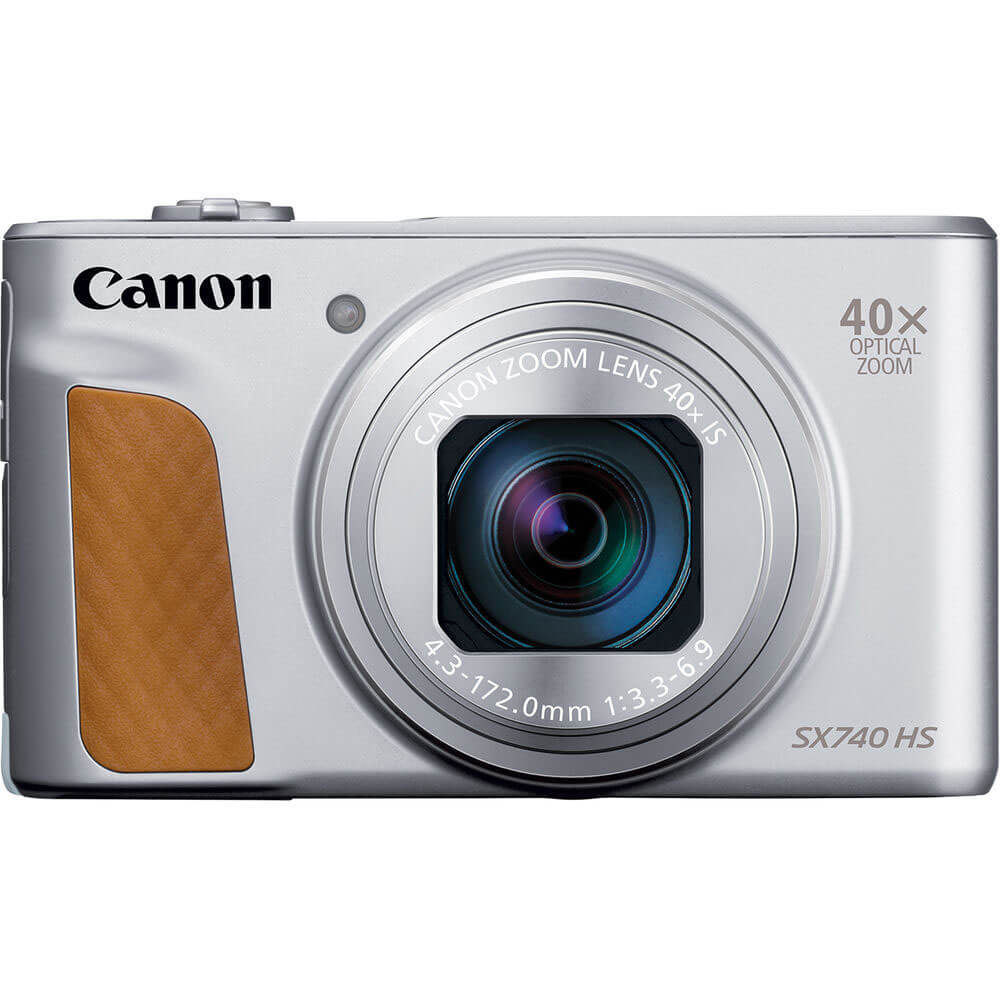 Front view of the Canon PowerShot 20.3 mega-pixel digital camera- SX740SL