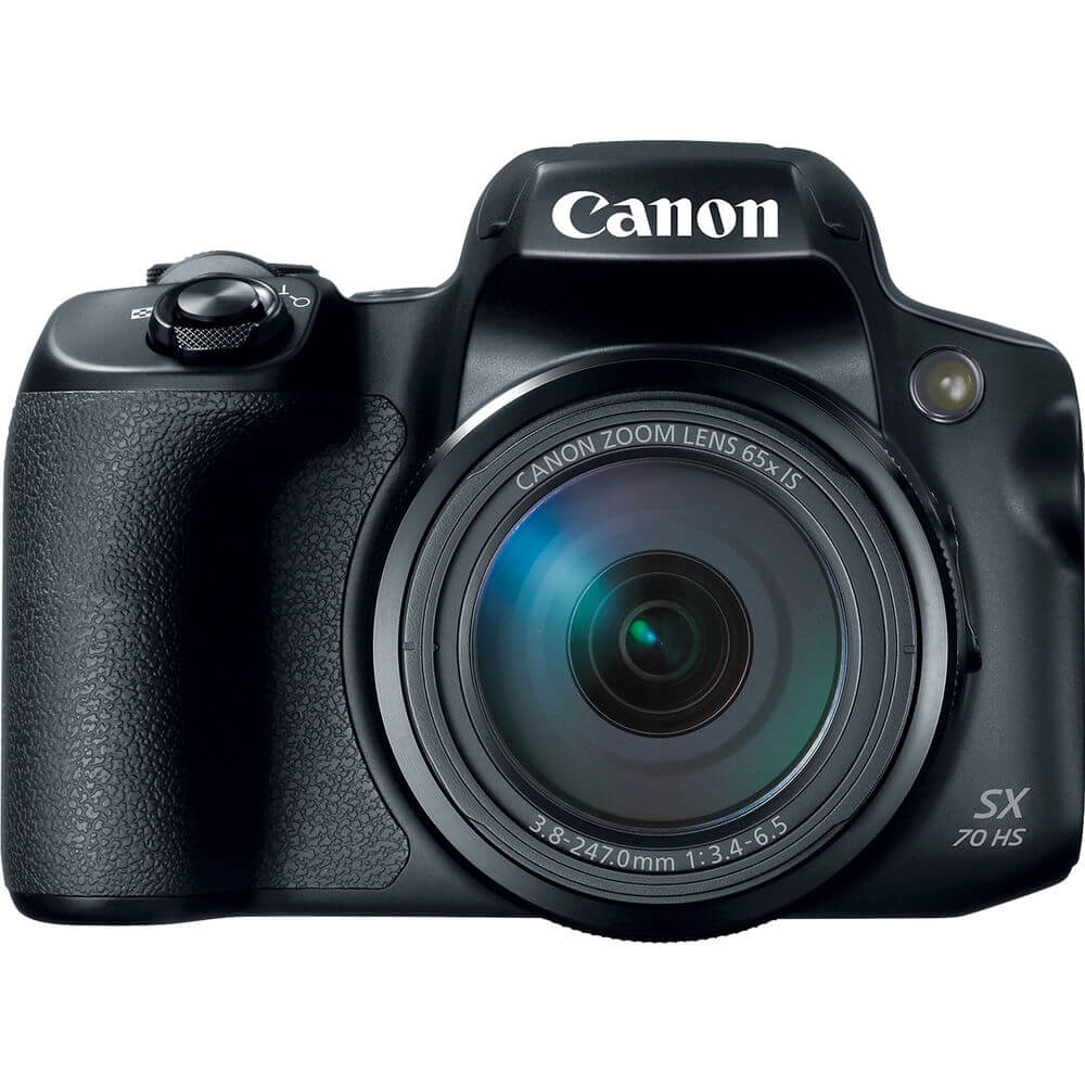 Front view of the 20.3 MP Canon PowerShot HS digital camera- SX70