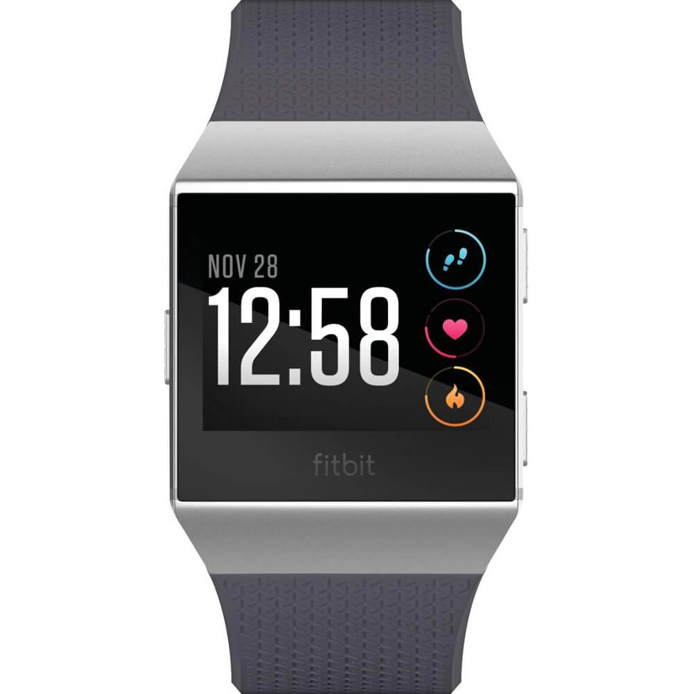 Front view of the grey Fitbit Ionic fitness watch- FB503WTGY