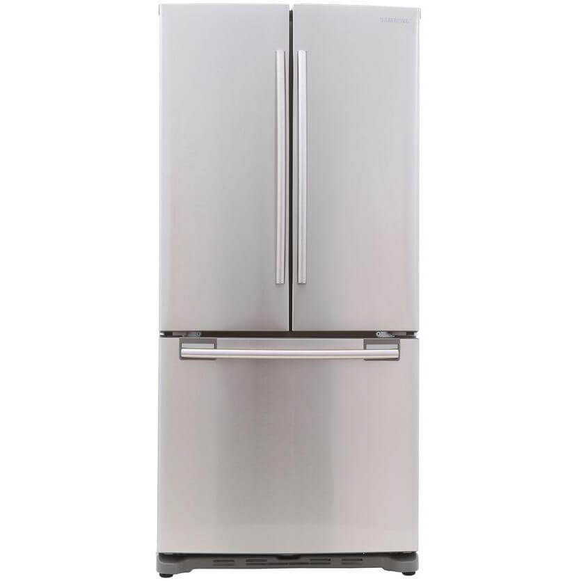Front view of 17.5 Cu. Ft. Stainless Counter Depth French Door Refrigerator