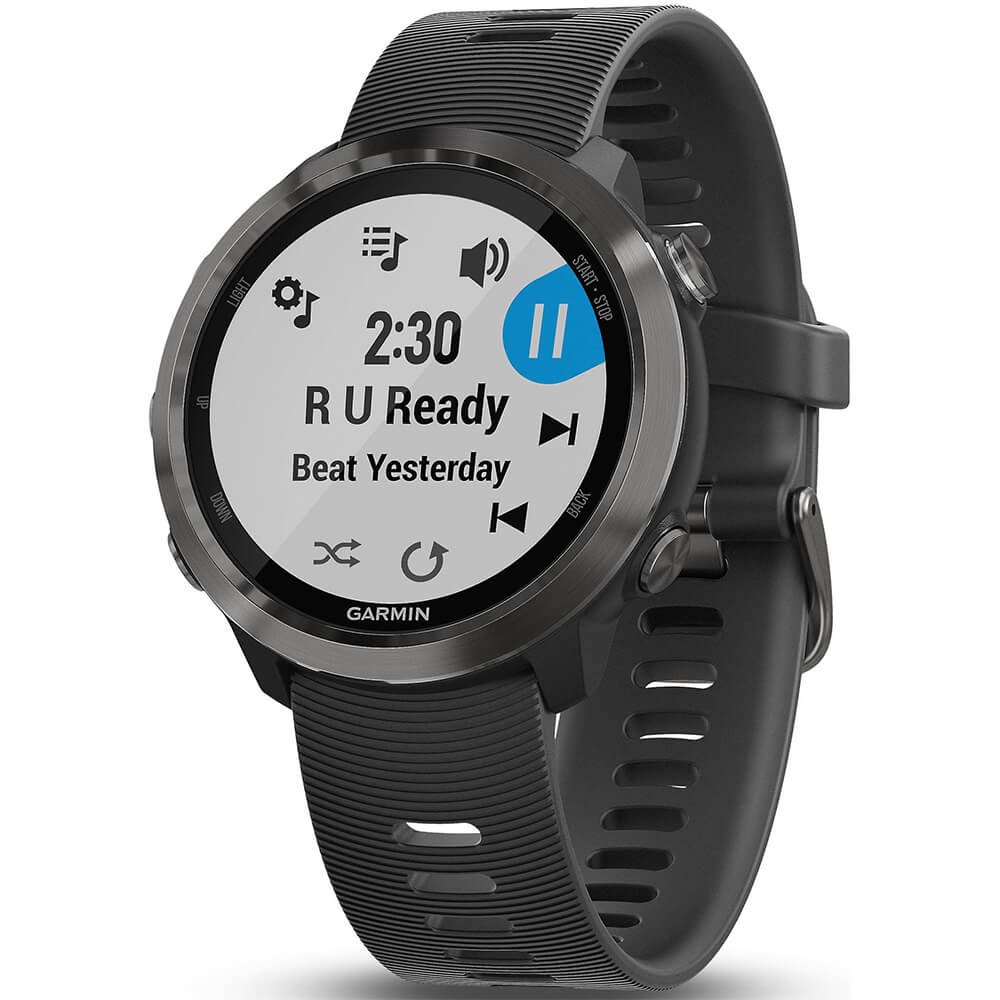 Angled front view of the Garmin Forerunner 645 music running watch- FORERUN645MS