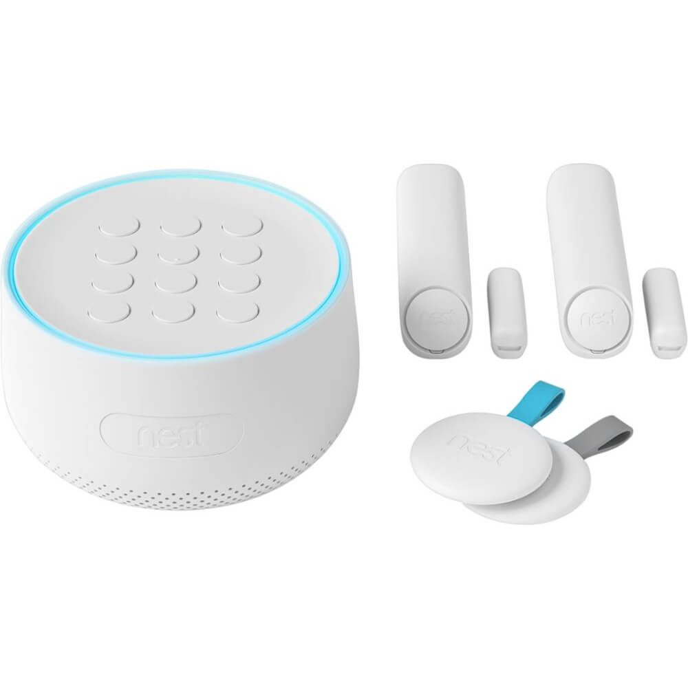 View of the full home security kit by Google nest- H1500ES