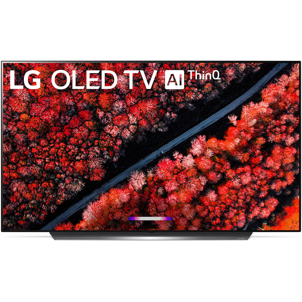 front view of the lg 65 4k oled smart tv model number oled65c9p