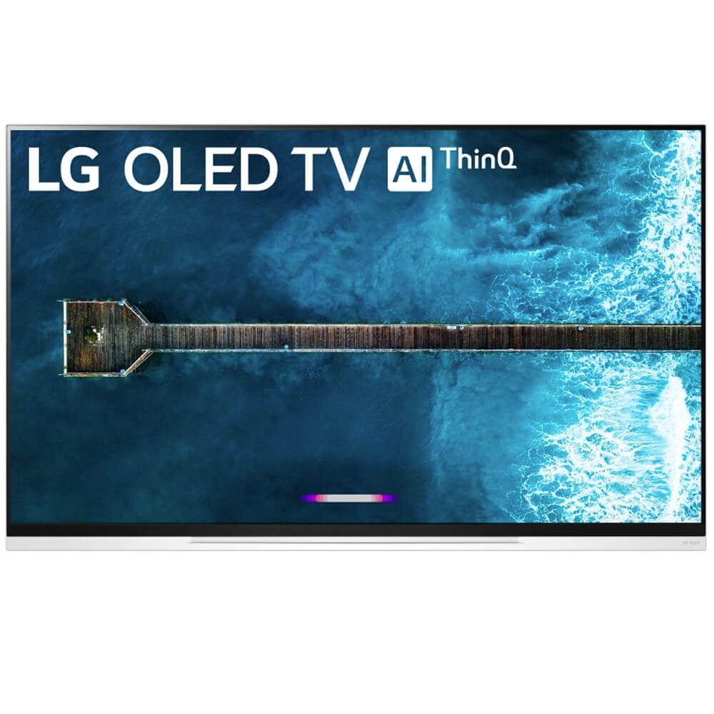 front view of the lg 65 4k oled smart tv model number oled65e9p