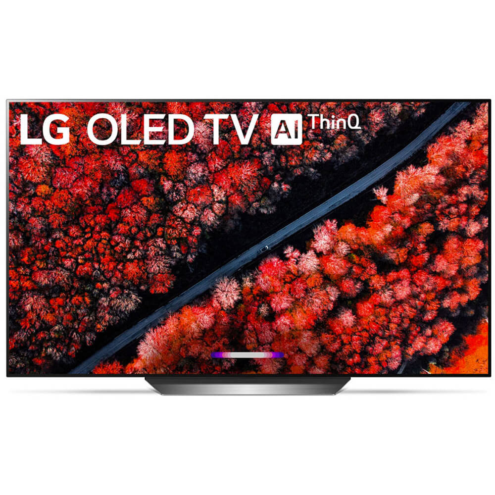 front view of the lg 77 4k oled smart tv model number oled77c9p
