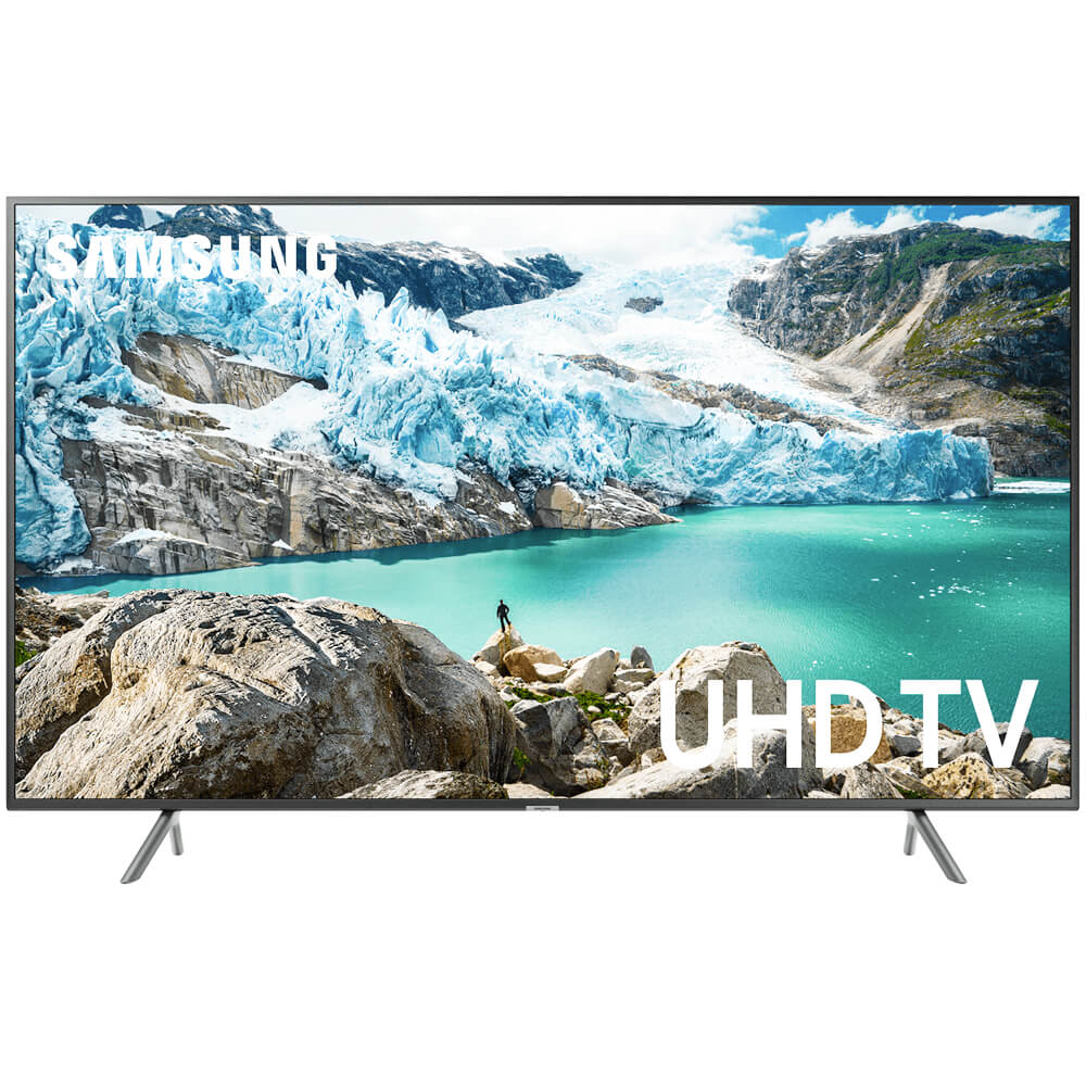 front view of the samsung 65 4k led smart tv model number un65ru7100