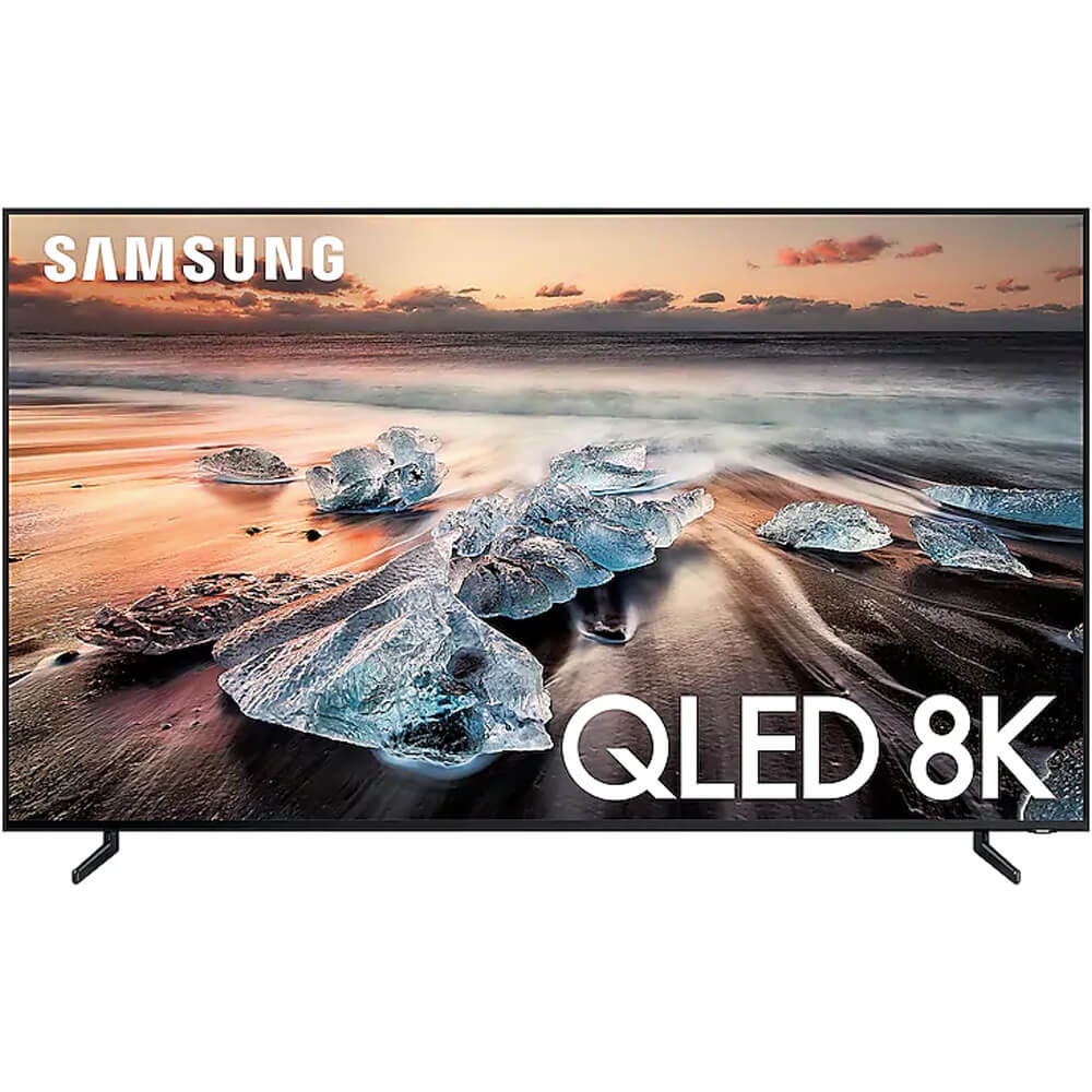 front view of the samsung 8k qled smart tv model number qn65q900r