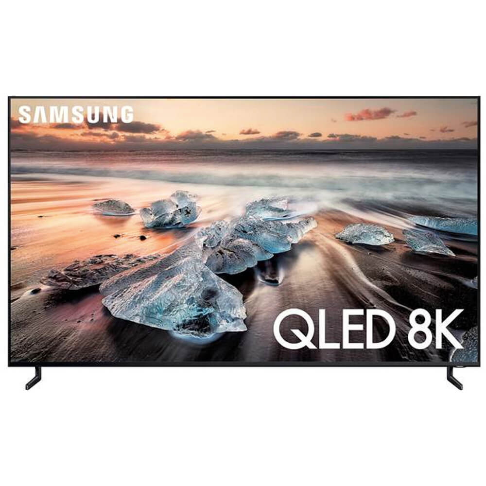 front view of the samsung 8k smart tv model number qn75q900r