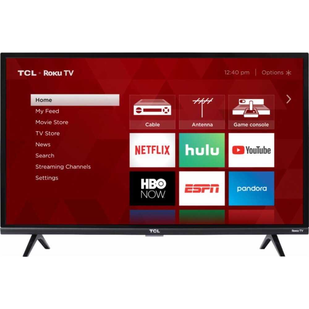 front view of the tcl 32 hd smart tv model number 32s327