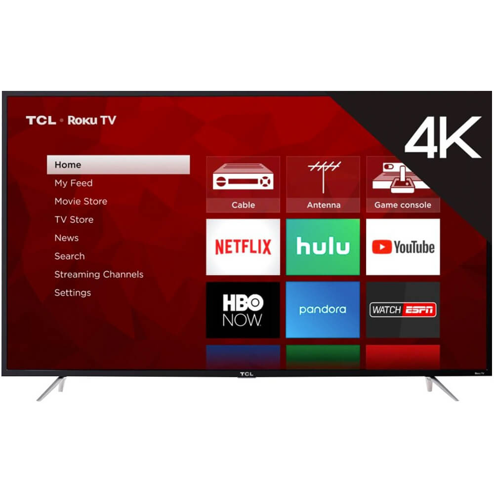 front view of the tcl 75 4k led smart tv model number 75s425