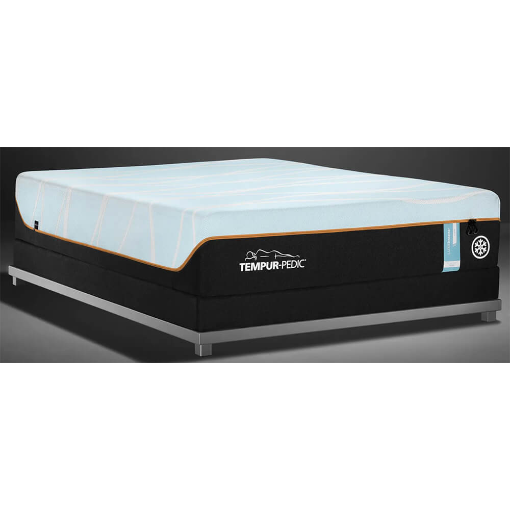 Angled front view of the Twin XL Tempur-Pedic LUXEBreeze firm mattress- 10244120